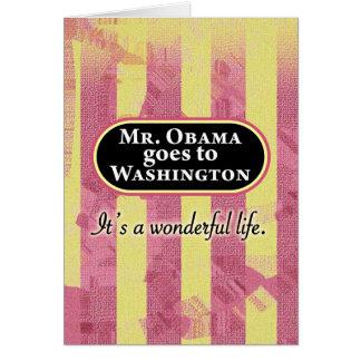 Mr. Obama goes to Washington Card