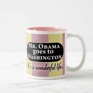 Mr. Obama goes to Washington Two-Tone Coffee Mug
