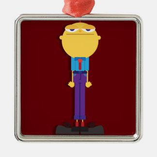 Mr. Office Metal Ornament