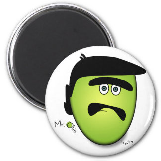 Mr Olie Confused 2 Inch Round Magnet