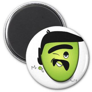 Mr Olie Flirty 2 Inch Round Magnet