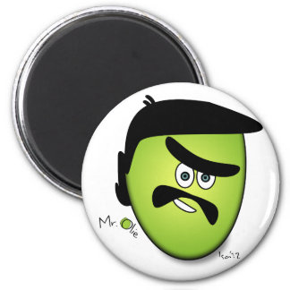 Mr Olie Naughty 2 Inch Round Magnet