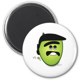 Mr Olie The Moody Olive - Cool 2 Inch Round Magnet