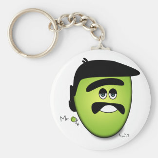 Mr Olie The Moody Olive - Cool Keychain