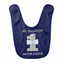 Mr. ONE-derful Baby Bib, Mr. Onederful Bib