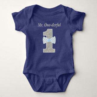 Mr. ONE-derful Baby Jersey Bodysuit, Mr. Onederful Baby Bodysuit
