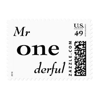 Mr One-derful Stamp