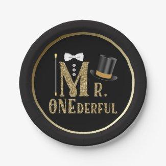 Mr ONEderful 1st Birthday Paper Plates