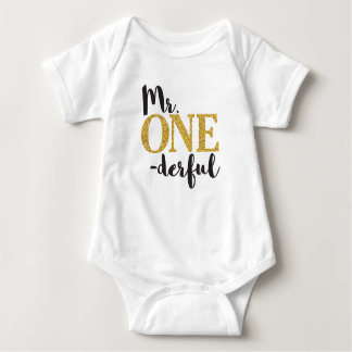 Mr. ONEderful Baby Jersey Bodysuit