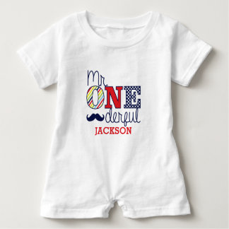 Mr. ONEderful Baby Romper - First Birthday Outfit