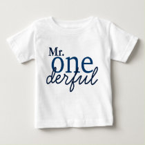 Mr Onederful Baby T Shirt