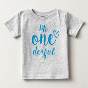 Mr Onederful Baby s First Birthday Baby T-Shirt 16070afe0
