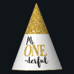 "Mr. ONEderful Birthday Party Hat<br><div class=""desc"">Mr. ONEderful Birthday Party Hat</div>"