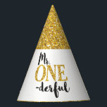 """Mr. ONEderful Birthday Party Hat<br><div class=""""desc"""">Mr. ONEderful Birthday Party Hat</div>"""