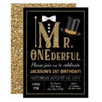 Mr ONEderful Birthday Party Invitation