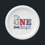 "Mr. ONEderful Birthday Party - Paper Plates 7&quot;<br><div class=""desc"">Mr. ONEderful Birthday Party - Paper Plates 7&quot;</div>"