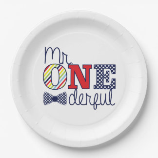 """Mr. ONEderful Birthday Party - Paper Plates 9"""""""