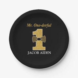 Mr. Onederful Custom Paper Plates 7