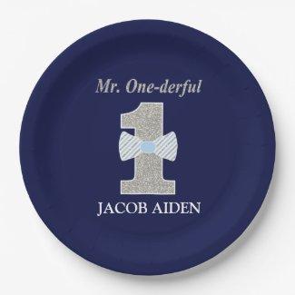 Mr. ONEderful Custom Paper Plates 9