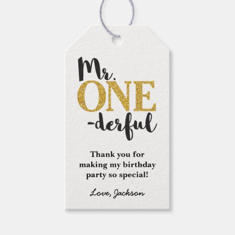 Mr. ONEderful Gift Tags - Mr. One-derful Birthday