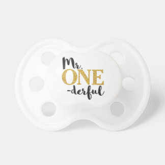 Mr. ONEderful  Pacifier • 6+ months BooginHead®