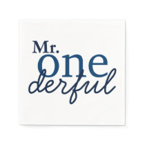 Mr Onederful Party Napkins