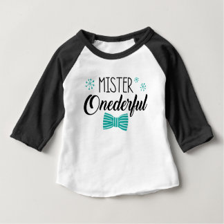 Raglan Shirts - Mr. Onederful Party Shirt