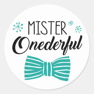 Mr. Onederful Party Sticker