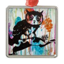 Mr Owl Metal Ornament
