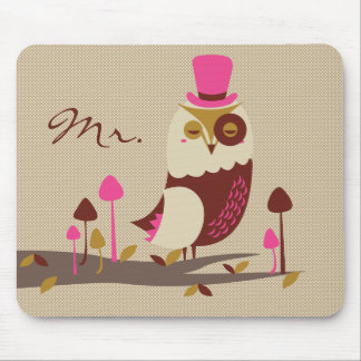 Mr. Owl Mouse Pad