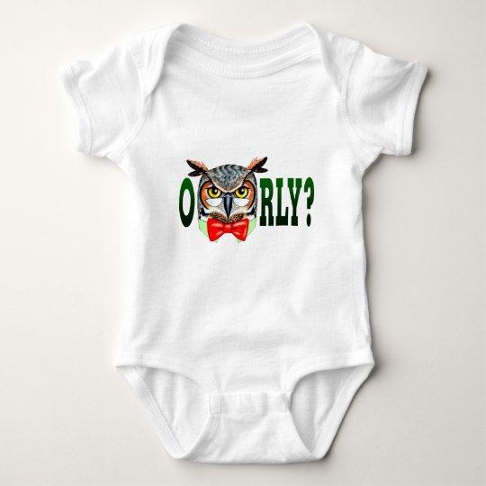Mr. Owl says O RLY? Baby Bodysuit