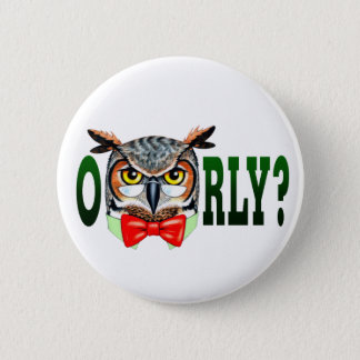 Mr. Owl says O RLY? Pinback Button