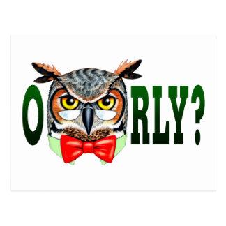 Mr. Owl says O RLY? Postcard