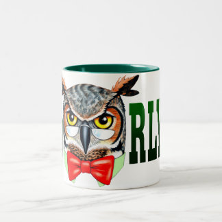 Mr. Owl says O RLY? Two-Tone Coffee Mug