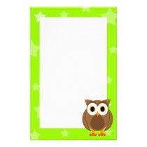 Mr. Owl Under The Stars Stationery