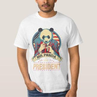 mr panda for president funny tshirt