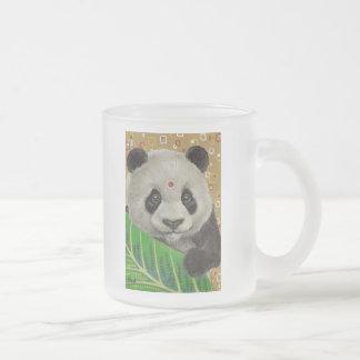 Mr Panda Frosted Glass Coffee Mug