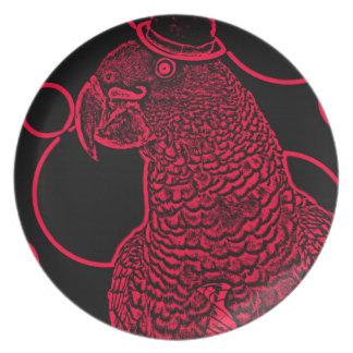 Mr parrot dinner plate