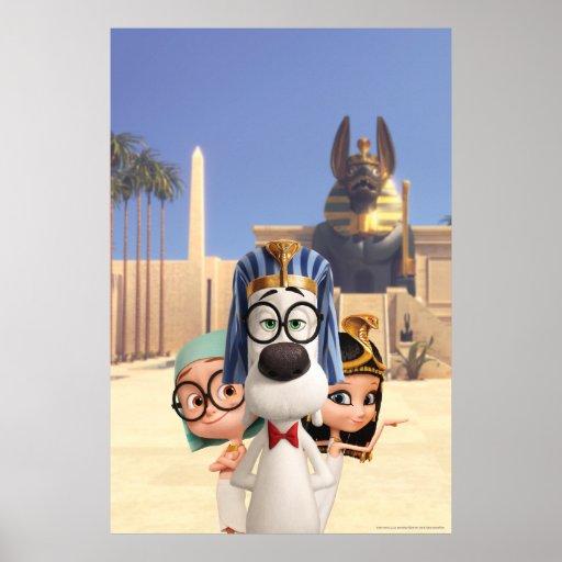 Mr. Peabody & Sherman in Egypt Print