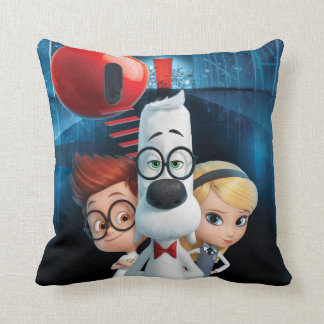 Mr. Peabody & Sherman in the Wabac Room Throw Pillows