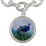 Mr. Peacock Charm Bracelet