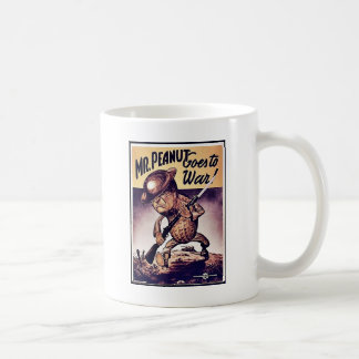 Mr. Peanut Goes To War Mugs