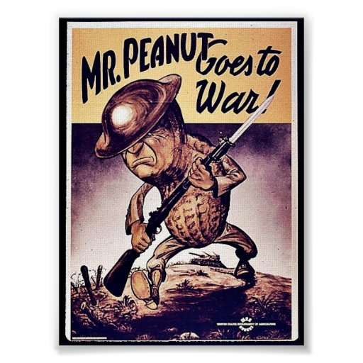 Mr. Peanut Goes To War Poster