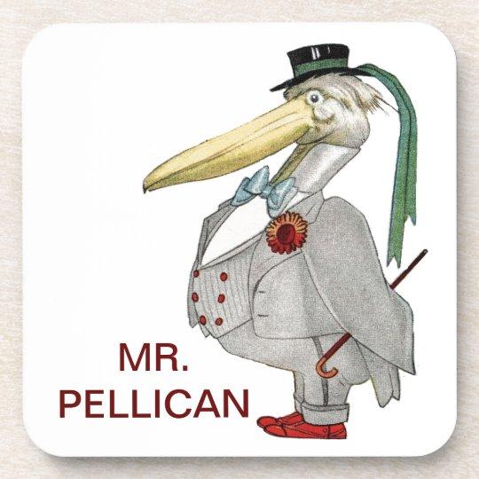 MR. PELICAN DRINK COASTER
