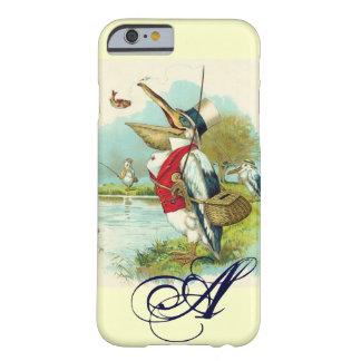 MR PELICAN FISHING MONOGRAM,cream Barely There iPhone 6 Case