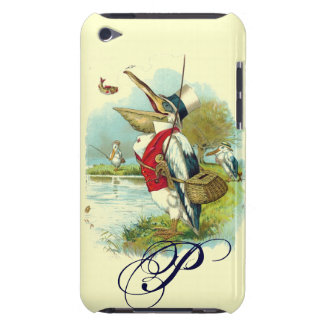 MR PELICAN FISHING MONOGRAM,cream Barely There iPod Case