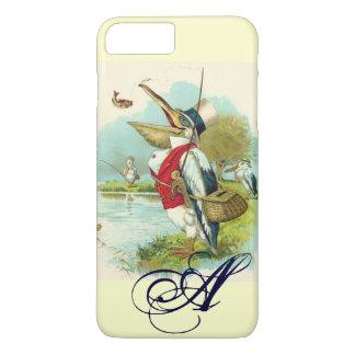MR PELICAN FISHING MONOGRAM,cream iPhone 8 Plus/7 Plus Case