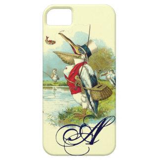 MR PELICAN FISHING MONOGRAM,cream iPhone SE/5/5s Case