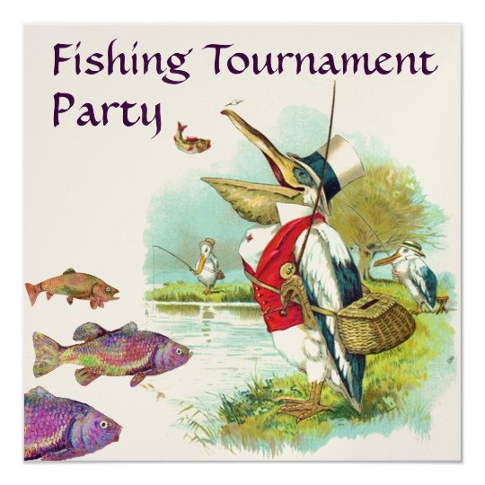 MR PELICAN FISHING TOURNAMENT PARTY CARD