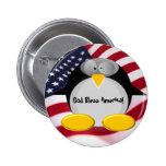 Mr.Penguin - Dios bendice América Pins